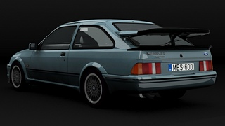FORD Sierra RS 500 3D renders