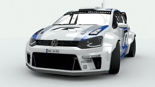 VW Polo R WRC 2012 3D renders