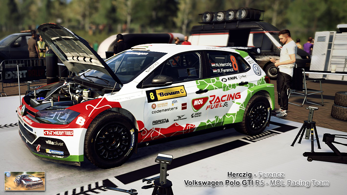 Herczig Volkswagen Polo R5 skin for Dirt Rally 2.0