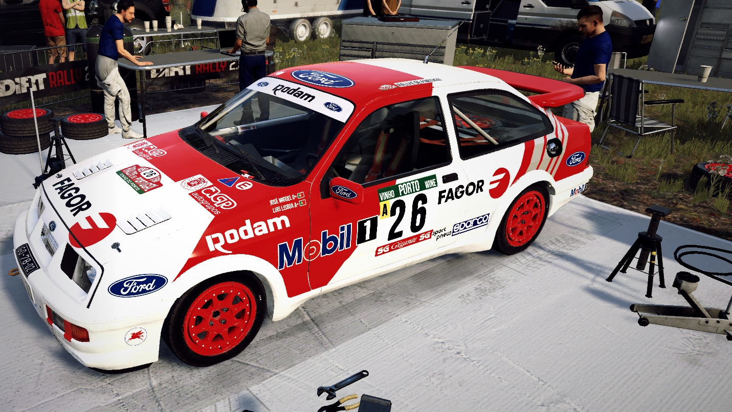 JMiguel Ford RS500 livery for Dirt Rally 2.0