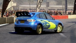 Subaru demo car for DiRT 2