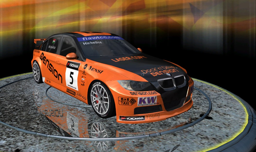 Michelisz BMW 320 TC for Rfactor