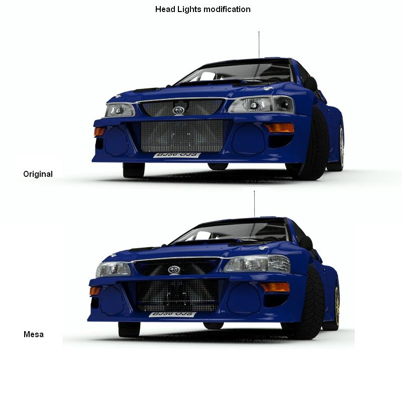 How to correct wrong headlight texture in WRC 3 Game